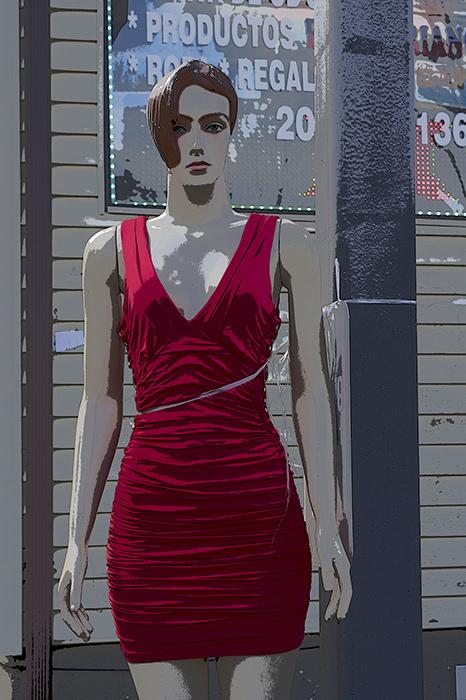 Blue Eyes, Red Dress, No Angel, Danbury, CT 2013