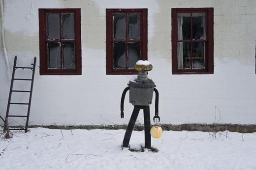 Robot in Snow, Morris, CT 2013